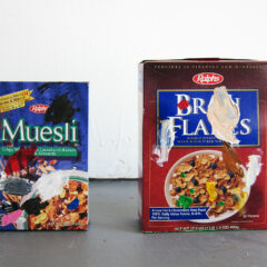 Cereals Designed for the Palette // Cereal Boxes, Acrylic Paint // 2011