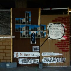 Corporate Graf // Acrylic on Board, Permanent Marker, Digital print, Cents. // 230 x120 cm // 2010