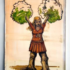 Daphne does Monsanto // Oil on Paper // 60 x35 cm // 2014