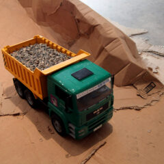Guggenheim Globetrotters World Tour: China // Toy truck and sunflower seeds // 10 x 15 x 7 inches // 2011