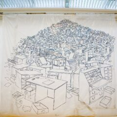 Bureau de Change // Permanent Marker on Polyurethane sheet // 4 x 3 m // 2009