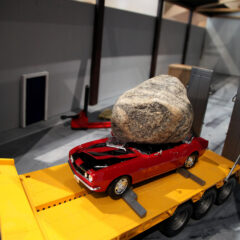 Peggy's Grotto: A Shipment to Venezuela leaves to depot // Wood, acrylic paint and cardboard // Dimensions variable // 2011