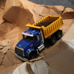 Guggenheim Globetrotters World Tour: Chad // Toy truck and earth // 10 x 15 x 7 inches // 2011