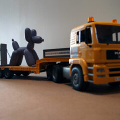 Guggenheim Globetrotters World Tour: Pakistan // Toy truck and Book stand // 10 x 29 x 12 inches // 2011
