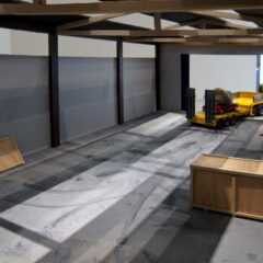 Peggy's Grotto: Inside the Warehouse // Wood, acrylic paint and cardboard // Dimensions variable // 2011