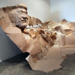 Mount Nicaragua: On The Shady side of Mount Rushmore // Cardboard, wood, and acrylic paint // 83 x 190 x 84 inches // 2011