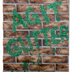 Pretty Aggressive Graf // Glitter on Wall Paper // 60 x35 cm // 2014