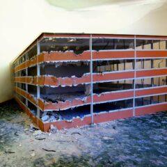 Monsanto Voodoo Caspar David Friedrich Style // Gypsum Board, Perspex, Plastic, Wood, Screws, Carpet, Glue, Acrylic, Smoke Machine // 3.3 x 4 x 1.5 m // 2013