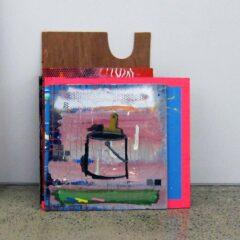 Painters Dozen // 10 Paintings, Acrylic on Board, Paint Marker, Enamel, Vinyl, Tape, Glitter // 60 x 40 x 4o cm // 2013