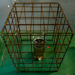 2 £ a pint // Steel, Pint Glass, Cheap Larger // 30 x 30 x 30 cm // 2010