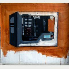 Art is Dead again. Long Live 3D // Acrylic on Canvas, Wood // 100 x 80 cm // 2013