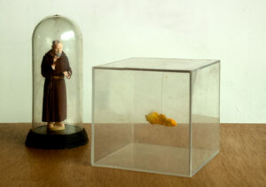 Padre Pio Blesses the Culture Sculpture // PR Image // Digital Image // Dimensions Variable // 2009