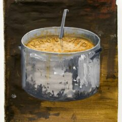 Rirkrit's Elite Soup // Acrylic on Canvas, Wood // 80 x 100 cm // 2013