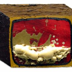 CH.1: Zombie TV // Oil on MDF, Expandable Foam & Gesso // 30 x 43 x 5 cm // 2001