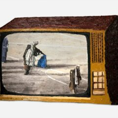 CH.50: The death penalty on the edge of the 6 yard box // Oil on MDF // 38 x 57cm // 2002