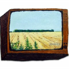 CH.54: Very Nearly: A Day Dream in Freddy's Field // Oil on MDF // 37 x 55cm // 2002