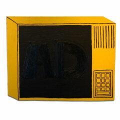 CH.83: Sublimal Ad Reinhardt Ad // Oil & Acrylic on MDF // 51 x 65 cm // 2007