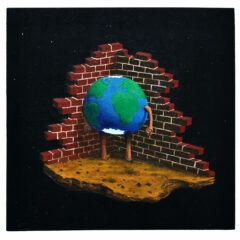 Goya's Gaia #01 // Acrylic on board 60 x 61cm // 2010