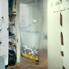Empty & Ready for a Refill // Polyurethane, Permanent Marker, Paint Marker // 90 x 200 cm // 2009
