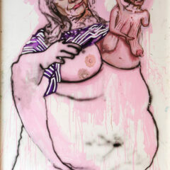 The Incubator Baby Cheerleaders // Acrylic on Hardboard, Digital Acetate Print // 240 x 120 cm // 2012