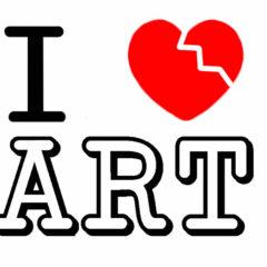 I ♥ Break Art // Vinyl Print, Magnetic Sticker // 20 x 15 cm // 2013