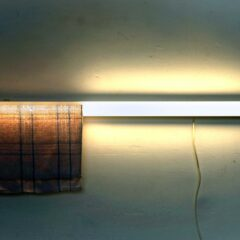 Minimal Handwringing // Fluorescent Light, Tea Towel // 120 x 40 x 10 cm // 2009