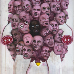 Mr Centre-Ships Lemons // Acrylic on Hardboard // 240 x 120 cm // 2012