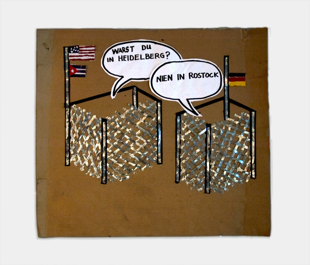 International Internment Camp Conference // Cardboard, Tape, Paper, Permanent Marker // 60 x60 cm // 2007