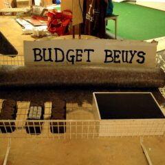 Budget Beuys Department Store // Felt, Brush, Playboy Soft Toy, Peat Briquette, Computer Keyboard Buttons, Glue, Speaker // 110 x 65 x 90 cm // 2006
