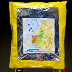 Icon of the Tears // Aluminium Foil, Tape, Cardboard, Paper, Watercolour Paint, Bikini Girl Tears // 4 x 5 cm // 2007