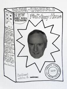 Fair Dinkum // Ink, Permanent Marker, Aluminium Tape, Paper // 80 x 60 cm // 2005