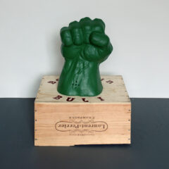 Bulk Bakunin's Bonsai // Champagne Box, Foam Hulk Fist, Vinyl Text // 45 x 45 x 30 cm // 2005