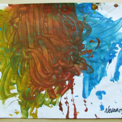 €1, 2 min, 3 colours // Paper, Poster Paint // 21 x 29 cm //2003
