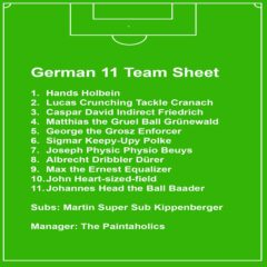 German 11 Team Sheet // Paintaholics #1 // 2006