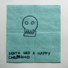 Deadly Nostalgia // Dish Cloth & Permanent Marker// 2013