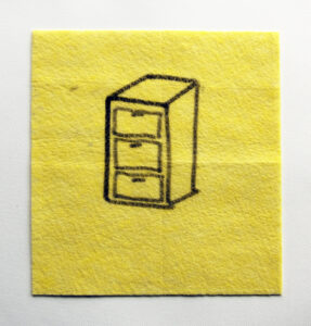 Dept. of Decompartmentalization // Dish Cloth & Permanent Marker// 2013