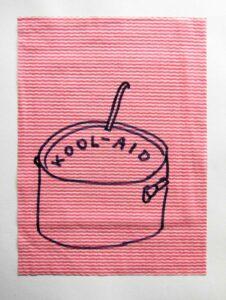 Rirkrit's Elite Soup // Dish Cloth & Permanent Marker// 2013