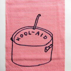Rirkrit's Elite Soup // Dish Cloth & Permanent Marker// 2013