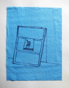 Reverse Side Softcore Edition: Career Suicide Painting Serious: GAZAGOSIAN // Dish Cloth & Permanent Marker// 2013