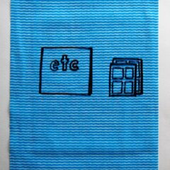 It does what it says on canvas No.3 // Dish Cloth & Permanent Marker// 2013