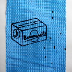 The Square Root of Bananality // Dish Cloth & Permanent Marker// 2013