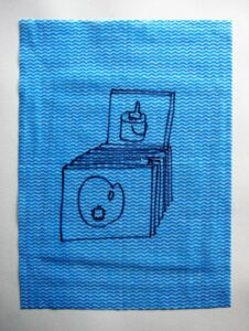 A Painters Dozen // Dish Cloth & Permanent Marker// 2013