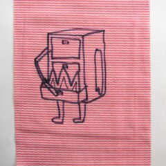 Fantasy Commission of Peter Sutherland for the National Portrait Gallery // Dish Cloth & Permanent Marker// 2013