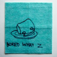 Polite Pique // Dish Cloth & Permanent Marker// 2013