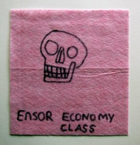 Ensor's Daily Digest // Dish Cloth & Permanent Marker// 2013