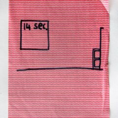It does what it says on canvas No.2 // Dish Cloth & Permanent Marker// 2013