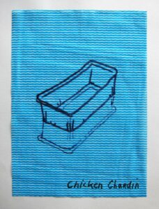 Fancy Forgery Series: No. 26 // Dish Cloth & Permanent Marker// 2013