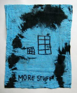 It does what it says on canvas No.1 // Dish Cloth & Permanent Marker// 2013