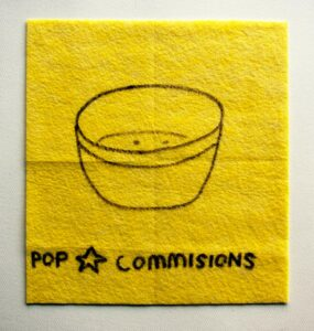 Celestial Cereal Bowl // Dish Cloth & Permanent Marker// 2013