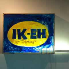 Perverted Advert // Wood, Screws, Perspex, Fluorescent Light, Acrylic Paint // 60 x 120 x 15 cm // 2006